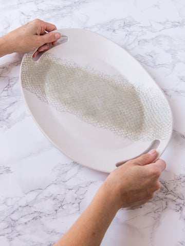 Ceramic Serving Platter with Handles