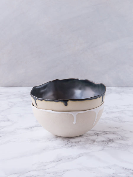 Ostrich Egg Bowl - Midnight