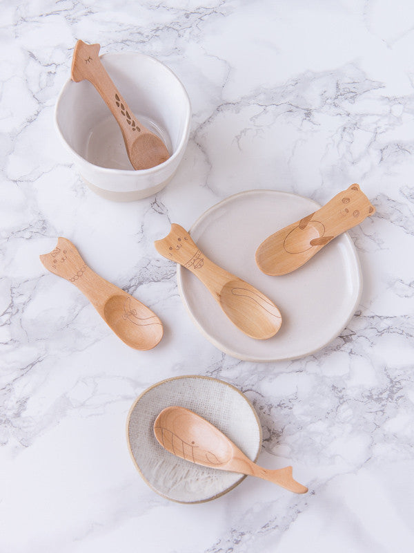 Tea Bar ~ Wooden Animal Spoons