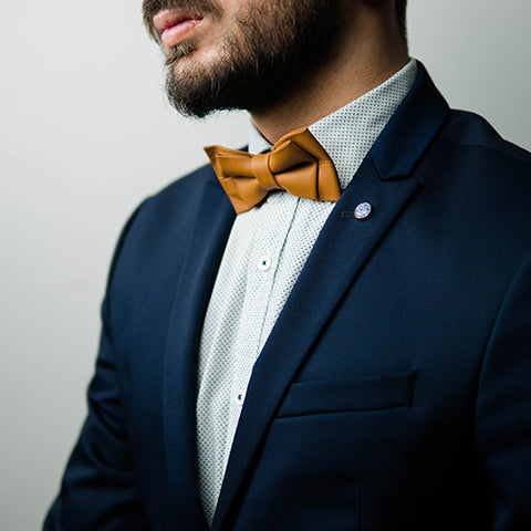Unique Leather Bow Tie