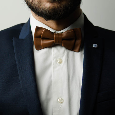Men'a leather bow tie India
