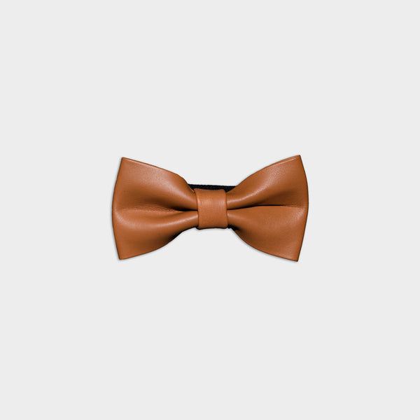 Men's Genuine Leather Bow Tie - Basic