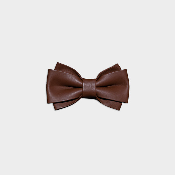 Men's Genuine Leather Bow Tie - Twin Wide