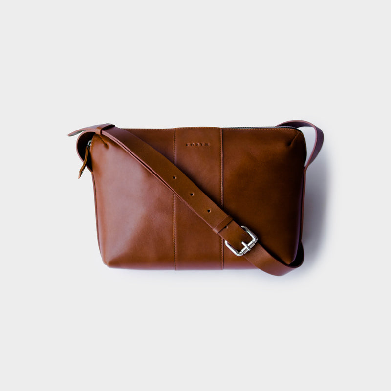 Woman's Everyday Leather Sling Bag - Tan