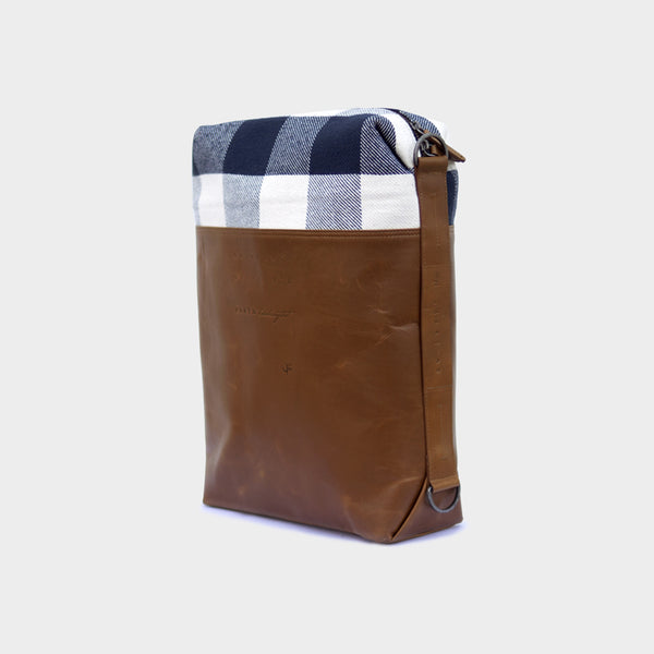 Latitude Leather Laptop Bag - Convertible - Checks Leather