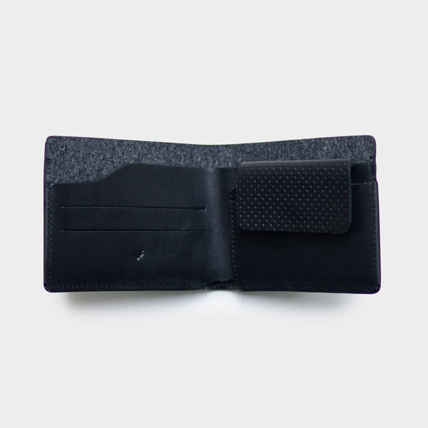 Type 1 Black - Leather Bifold Wallet