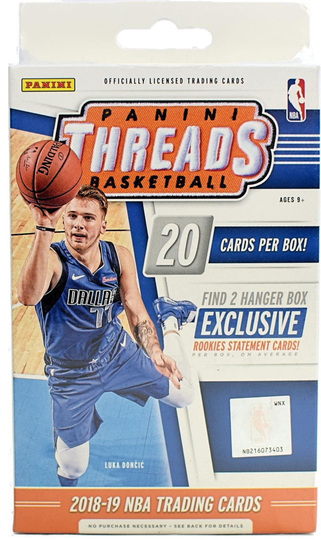 2018/19 Panini Threads 20 Card Hanger Box