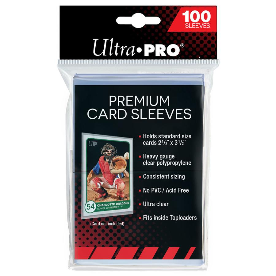 Ultra Pro Premium Card Sleeves (100 pack) (must be ordered with sports cards)
