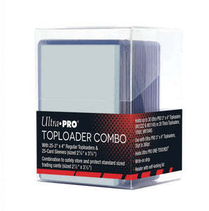 Ultra Pro 35 pt Toploader (25 pack) including sleeves (25) and protective case (must be ordered with sports cards)