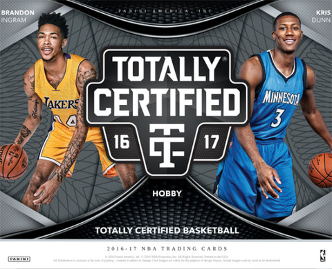 2016/17 Panini Totally Certified Basketball Box