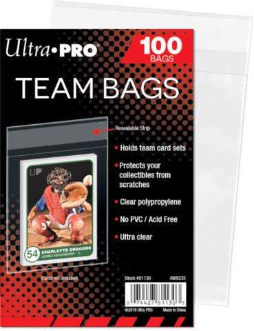 Ultra Pro Team Bags (100 pack)(must be ordered with sports cards)