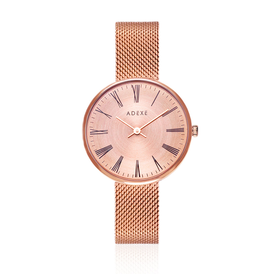 RoseGold ADEXE Watch