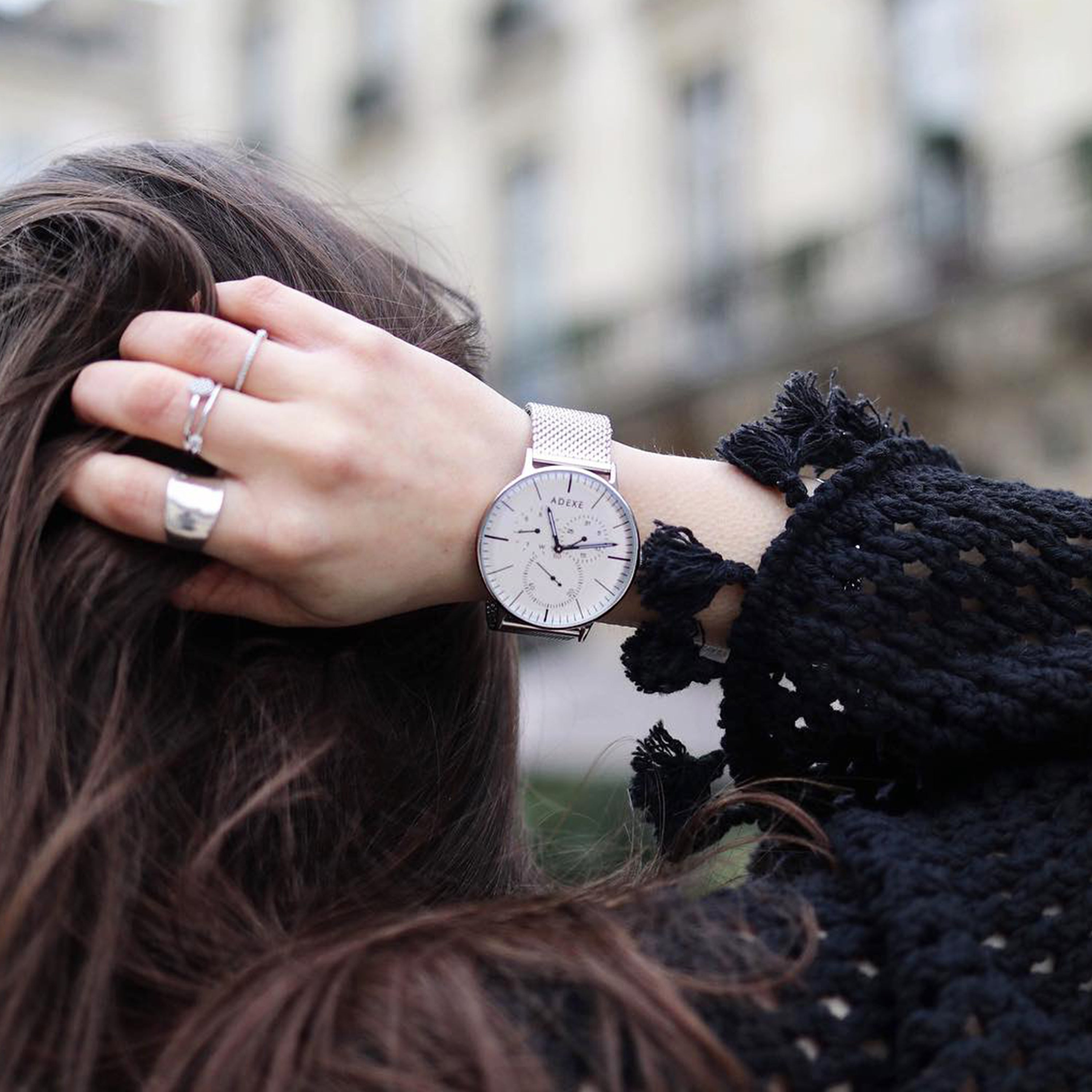 ADEXE Silver Watches