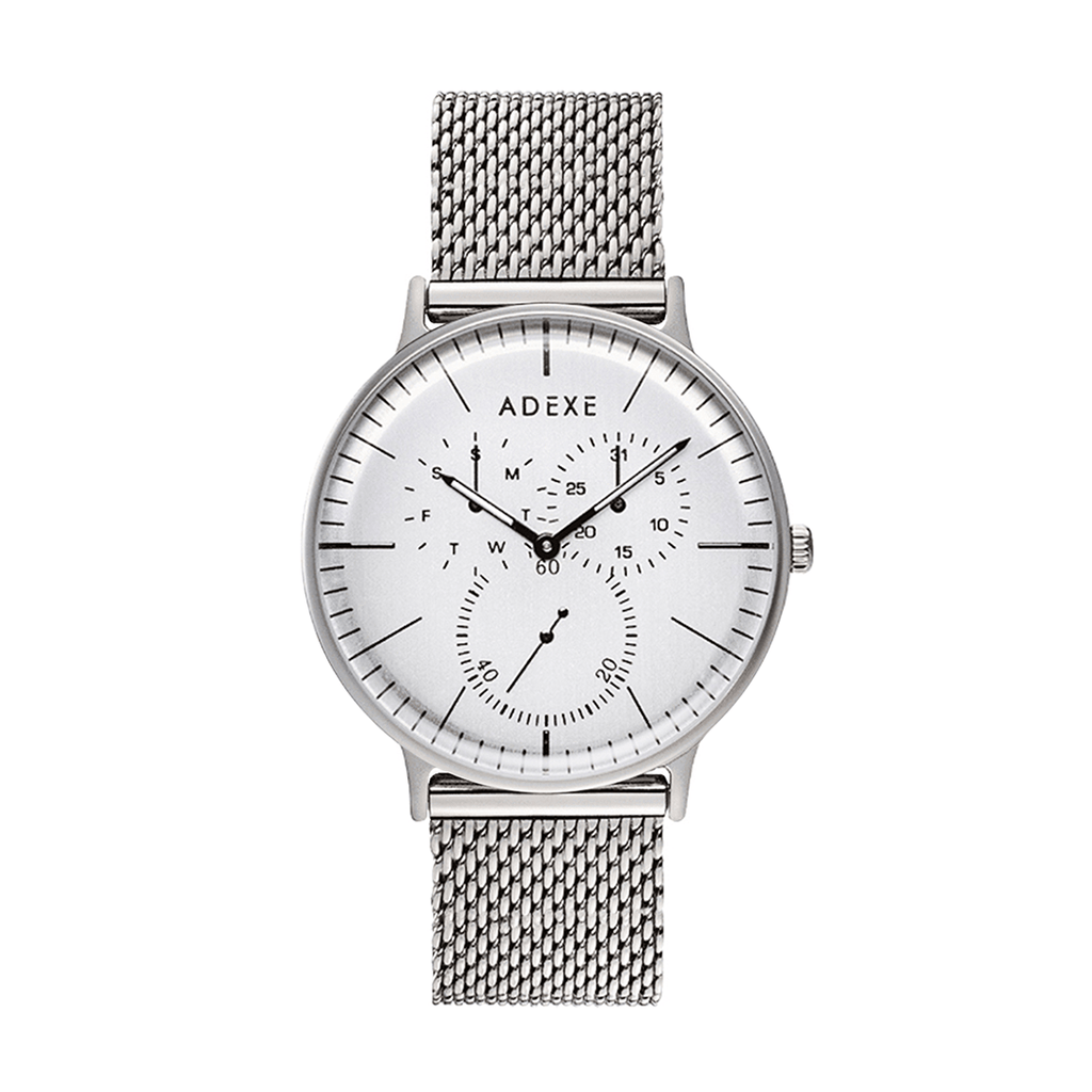 Grande Mesh Band 1.0 - Silver 41mm - ADEXE Watches