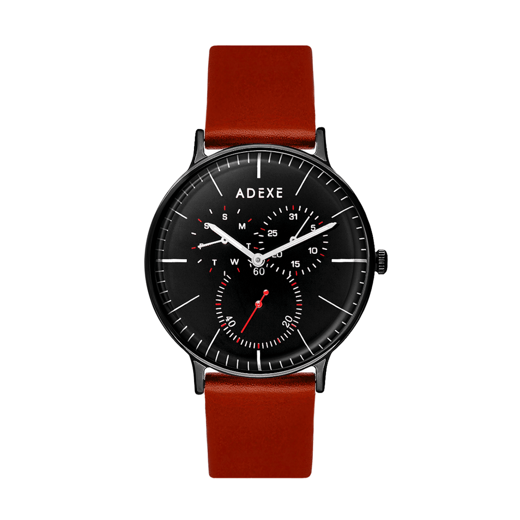 Grande Leather 1.0 - Black Case 41mm - ADEXE Watches