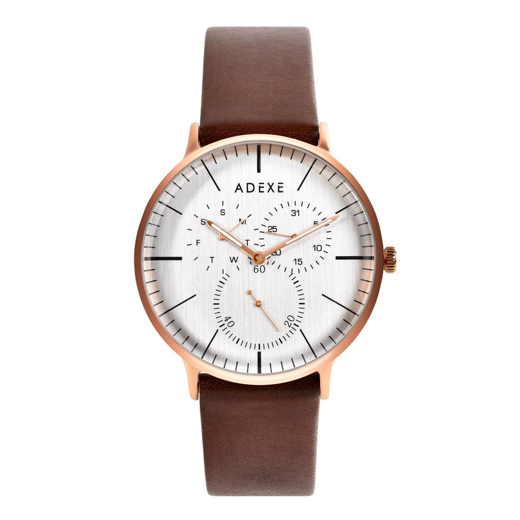 Grande Leather - Rose Gold Case 41mm - ADEXE Watches
