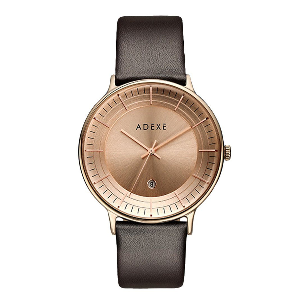 Grande Brown & Rose Gold Case 42mm - ADEXE Watches