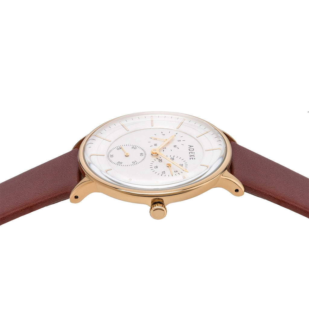 Grande Leather 2.0 - Gold Case 41mm - ADEXE Watches