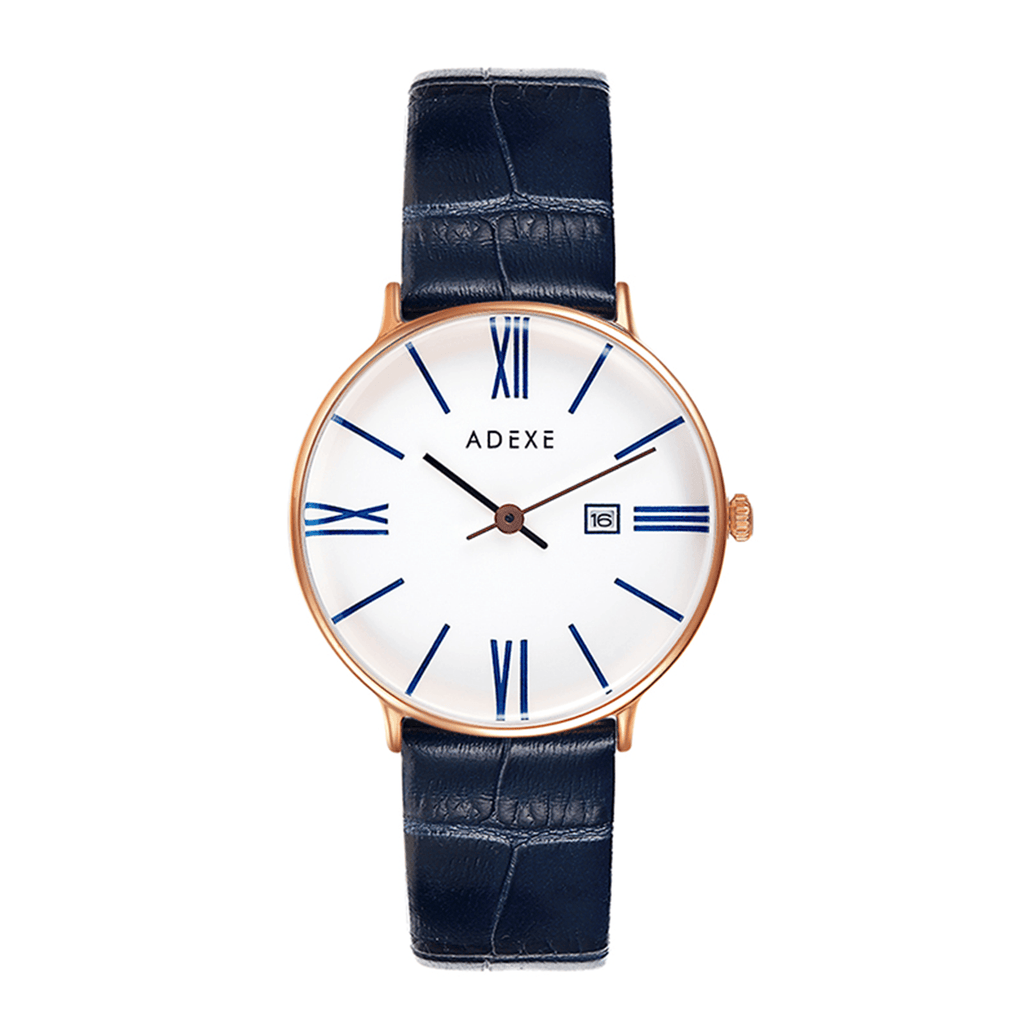 Petite Blue Leather 33mm - ADEXE Watches
