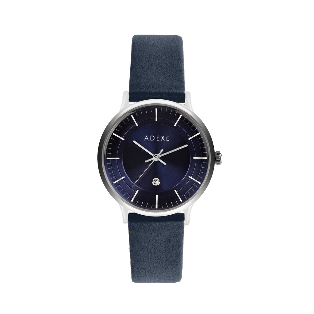 MAC Petite Leather Navy ADEXE Watches Blue
