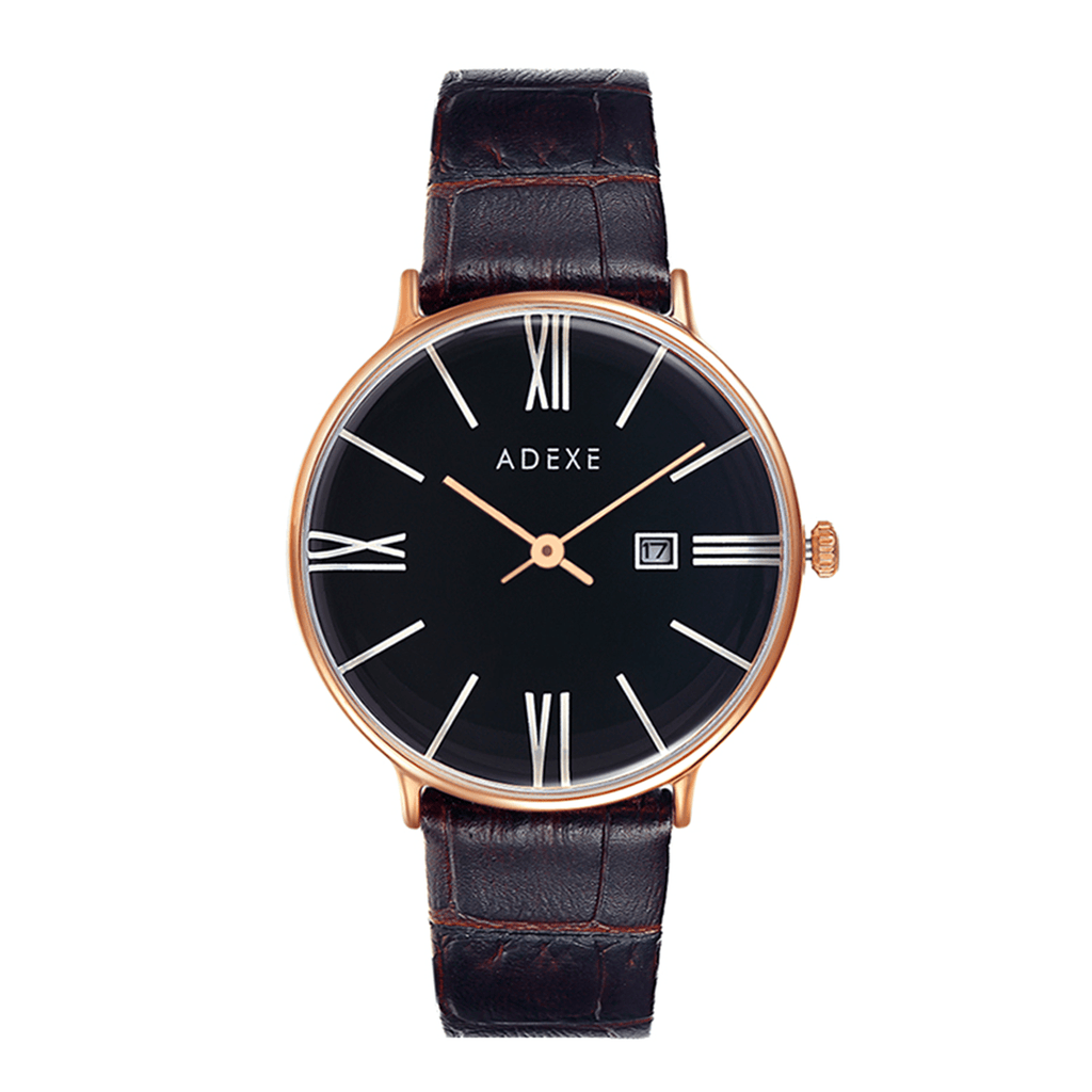 Grande Leather Dark Brown Case 41mm - ADEXE Watches