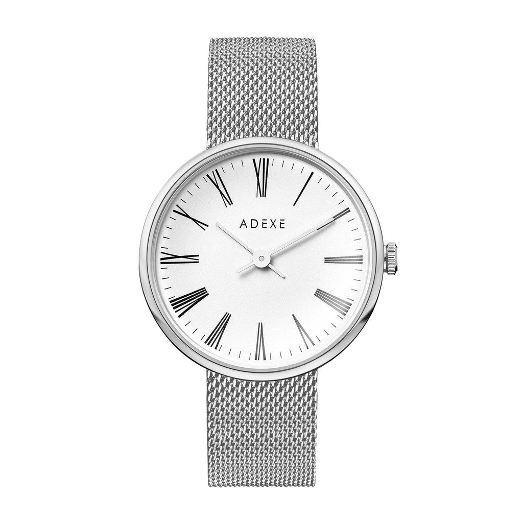 Grande Mesh ADEXE Watches Silver & White