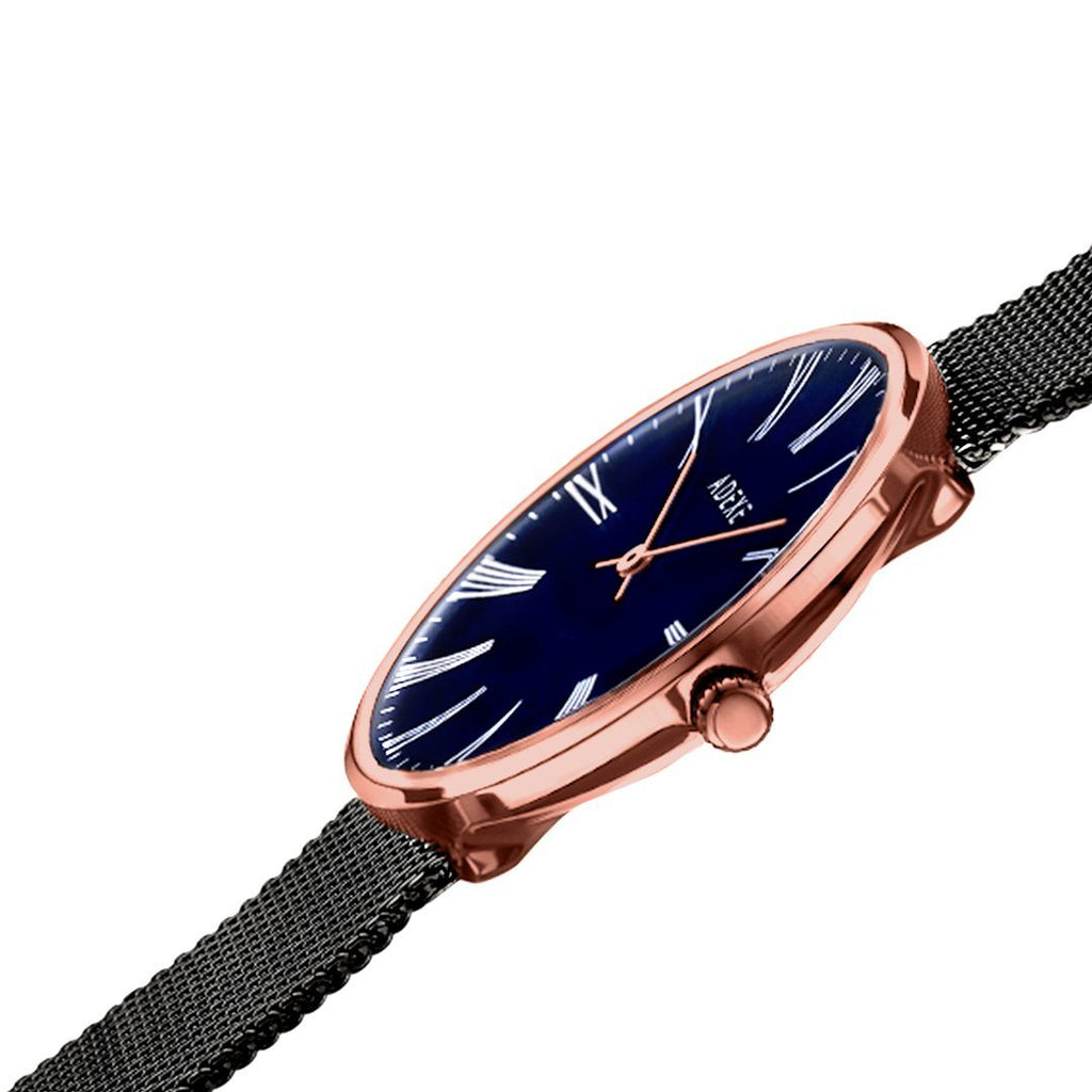 Sistine Grande RoseGold Blue and Black side angle