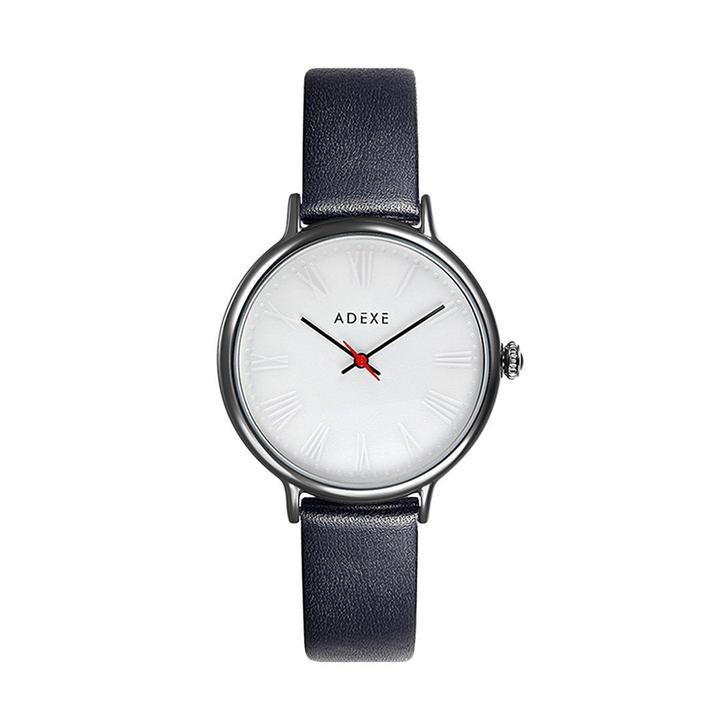 Petite Leather Black Case 32.5mm - ADEXE Watches
