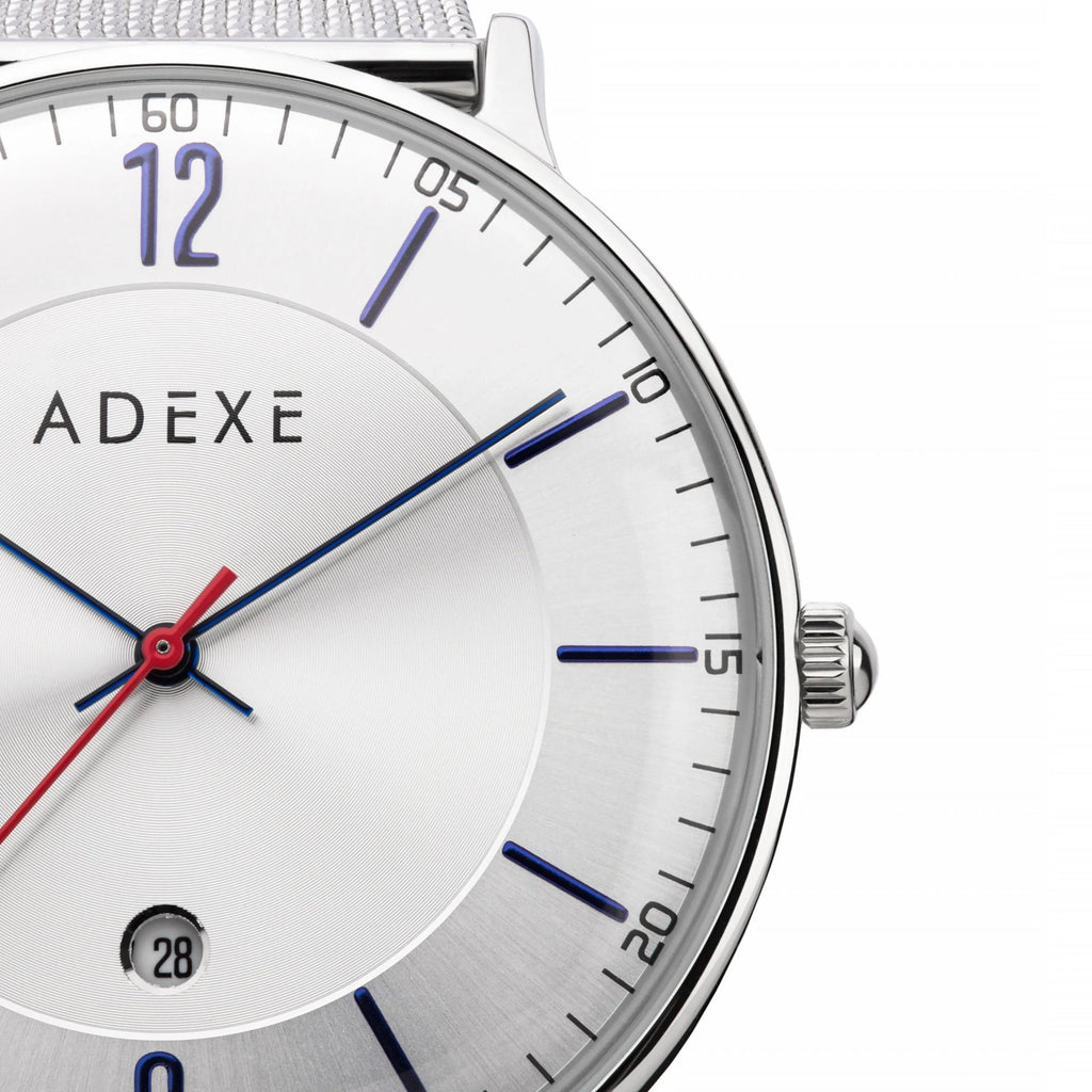 ADEXE Watches Steel Blue Close Up