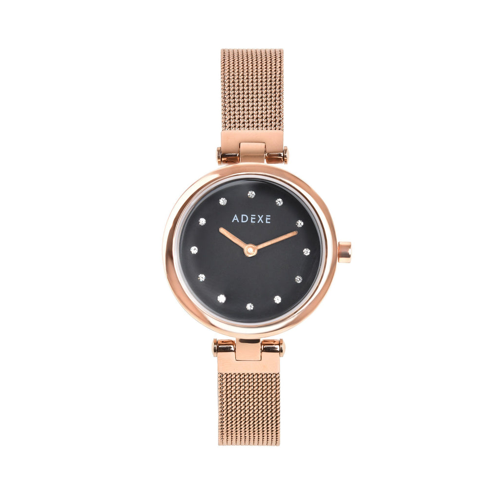 Twilight Rose Gold ADEXE Watches Black