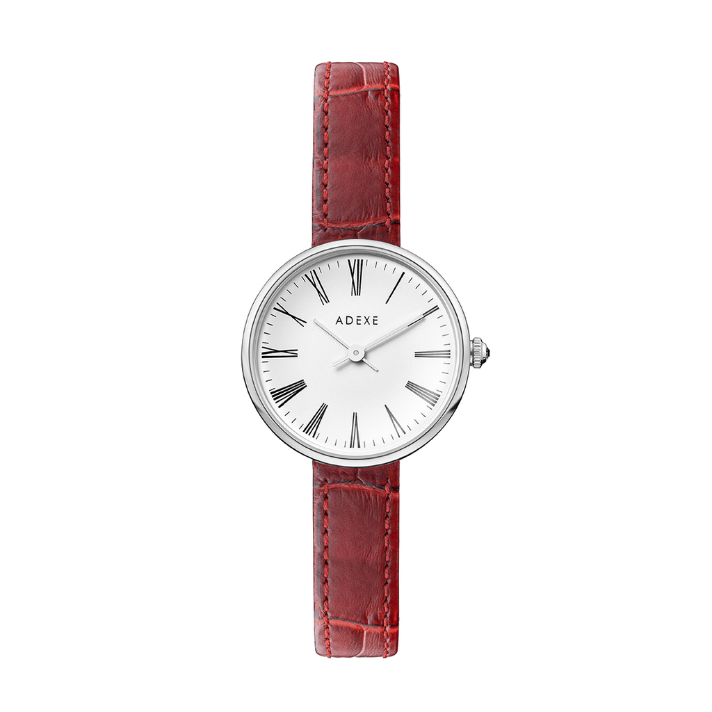Silver Case - Red Case 30mm - ADEXE Watches