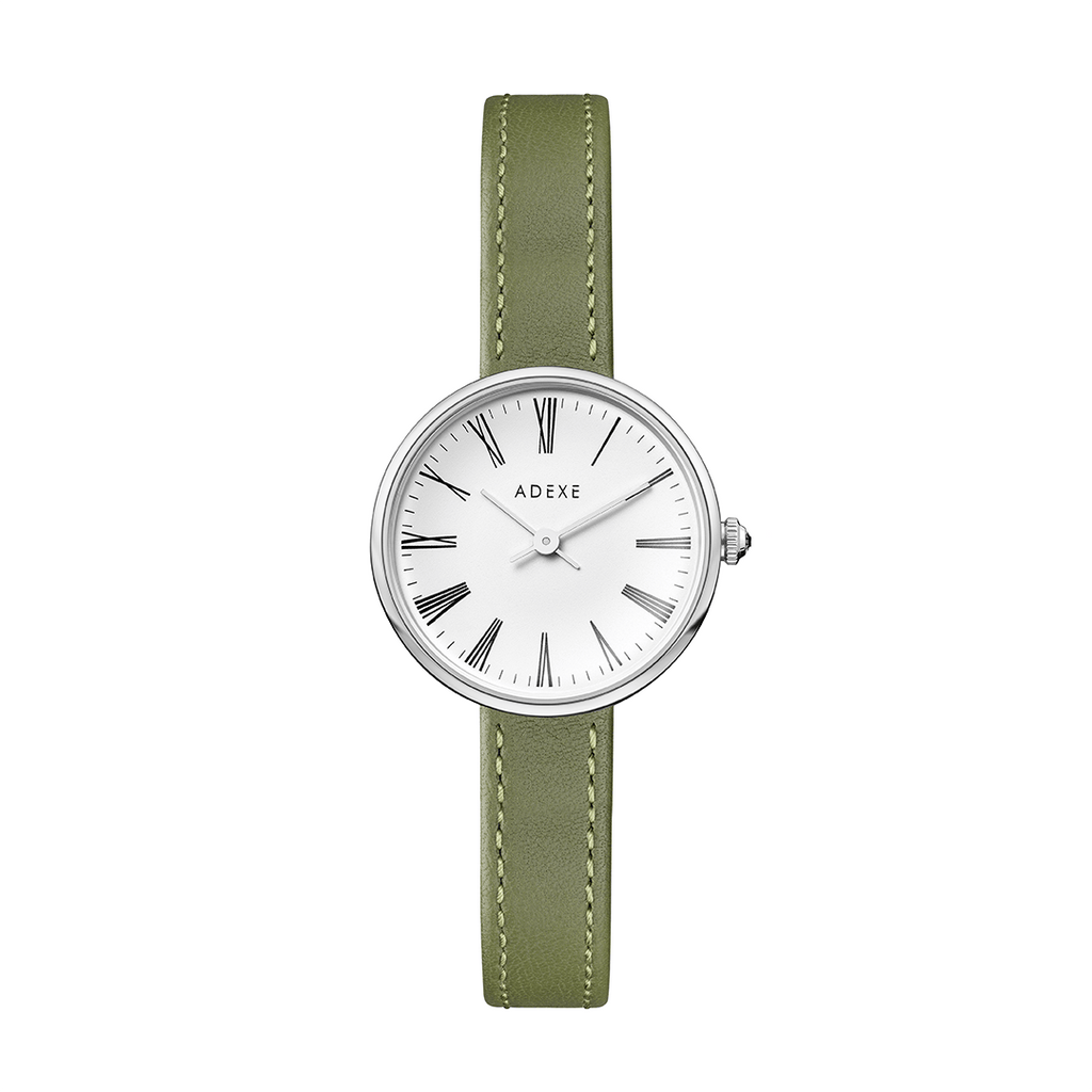 Silver Case - Spring Green - ADEXE Watches