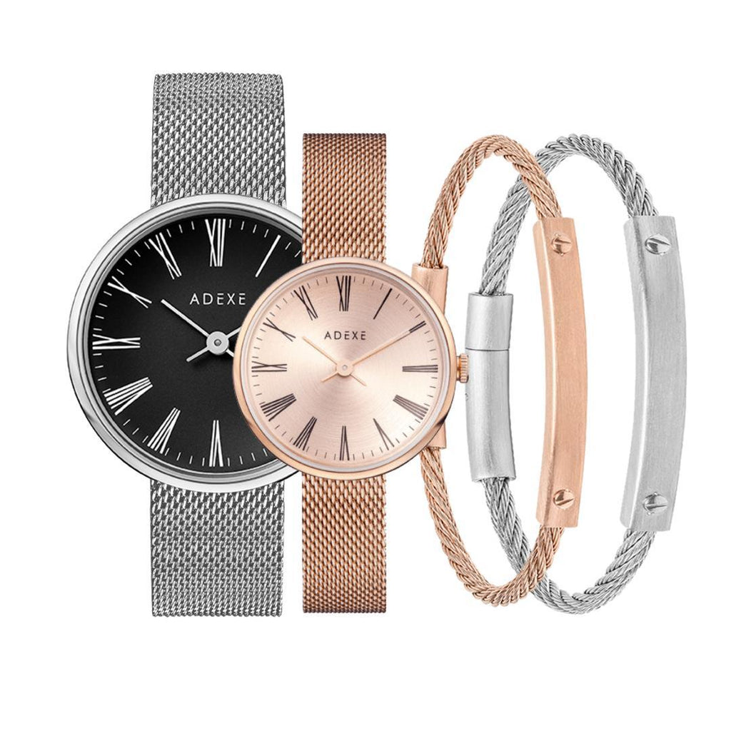 Glam Classy Couple Gift Set - ADEXE Watches