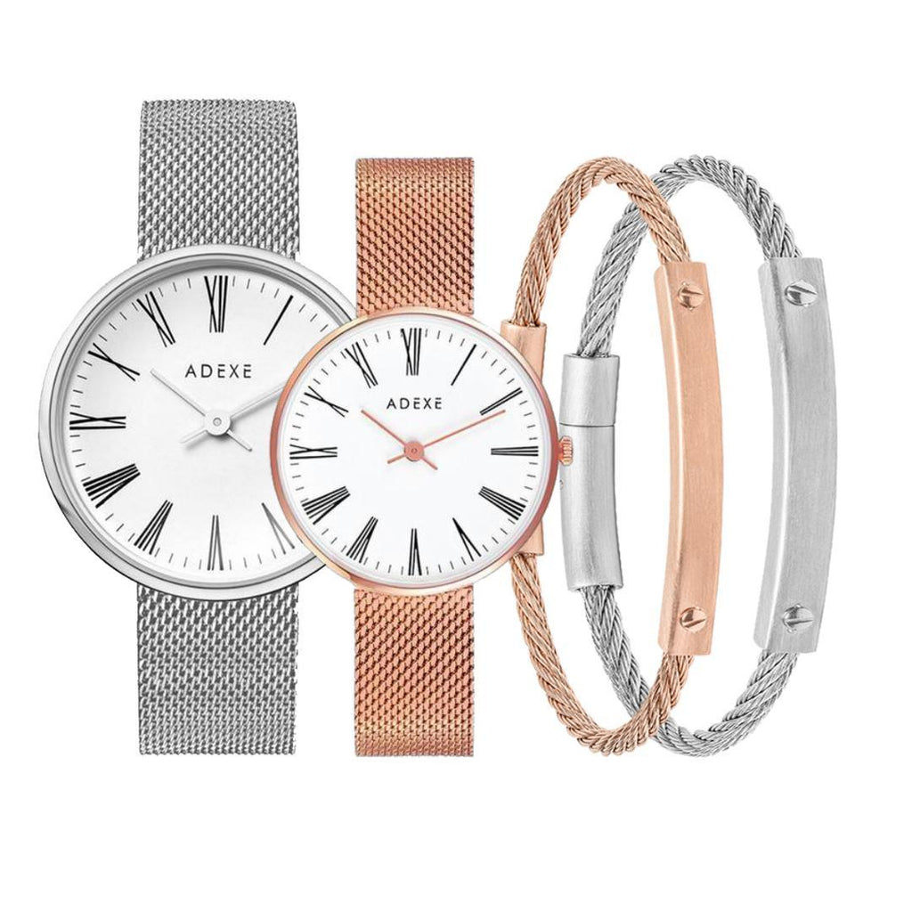 Glam Classy Couple Set - ADEXE Watches