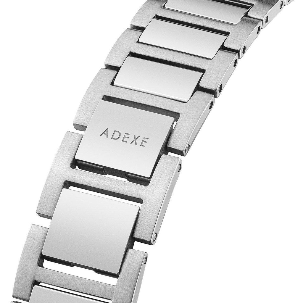 Grande Silver & Black Case 41mm - ADEXE Watches