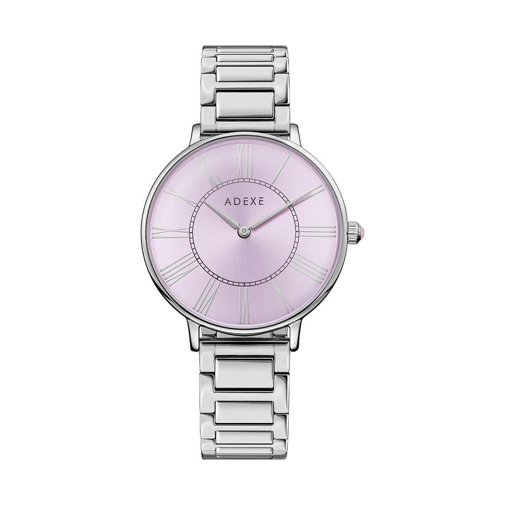 Petite Silver & Pastel Purple Case 33mm - ADEXE Watches