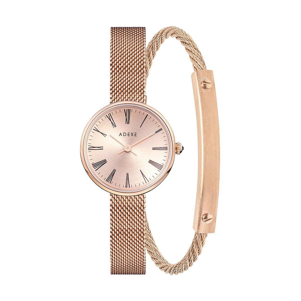 Mini Sistine Girlfriend Crystal Ball Set ADEXE Watches Rose Gold S (18cm)