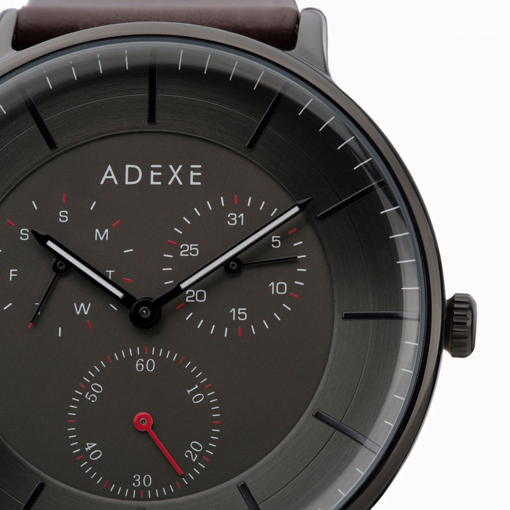 Grande Leather 2.0 - Black Case 41mm - ADEXE Watches