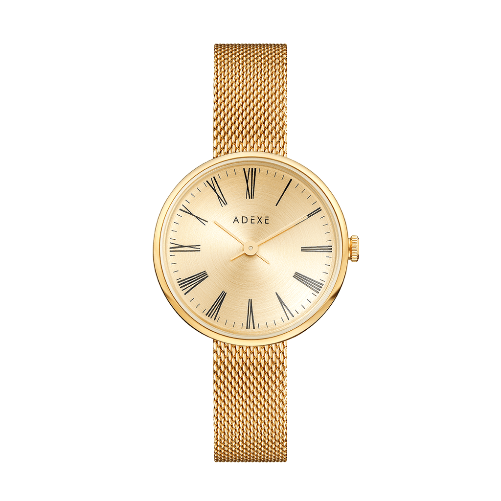 Petite Mesh Band - Gold Case 35mm Muses Adexe Gold