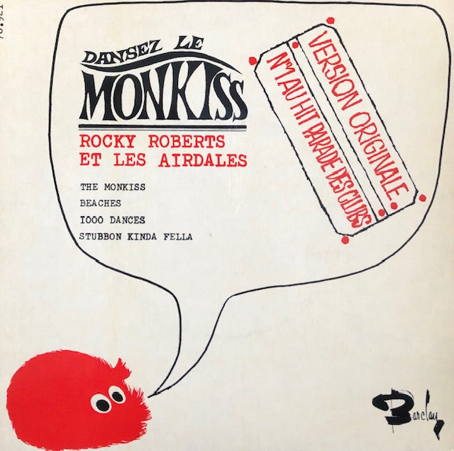 Rocky Roberts and the Airdales - Dance the Monkey - (French) Barclay EP.