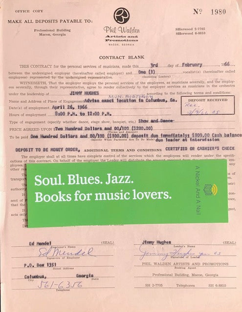 Jimmy Hughes - 1966 performance contract (Columbus, Georgia)