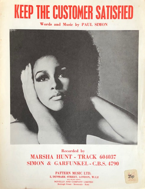 Marsha Hunt - Keep The Customer Satisfied - sheet music.