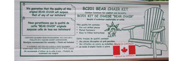 Original Bear Chair Versandbox