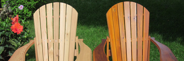Mit Lasur behandelte Adirondack Chairs