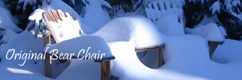 Original Adirondack Bear Chair im Winter