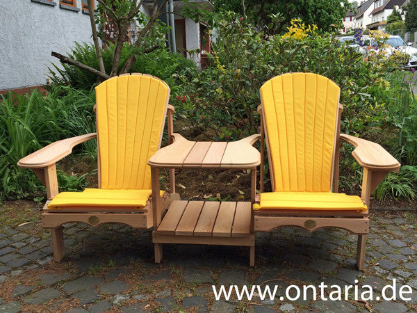 Adirondack Chair - Original Bear Chair Tête-à-tête mit Polstern