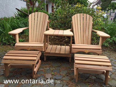 Adirondack Chair - Original Bear Chair Tête-à-Tête Set mit Schemeln