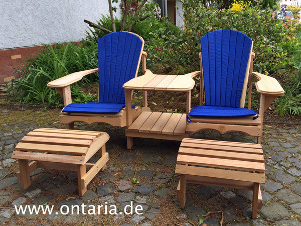 Adirondack Chair - Original Bear Chair Tête-à-tête, Schemel & Polster 1