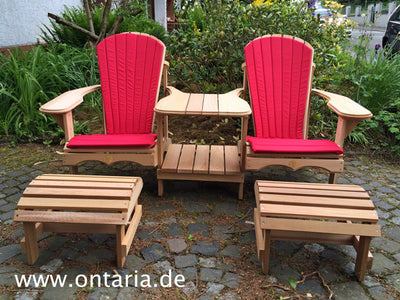Adirondack Chair - Original Bear Chair Tête-à-tête, Schemel & Polster 3