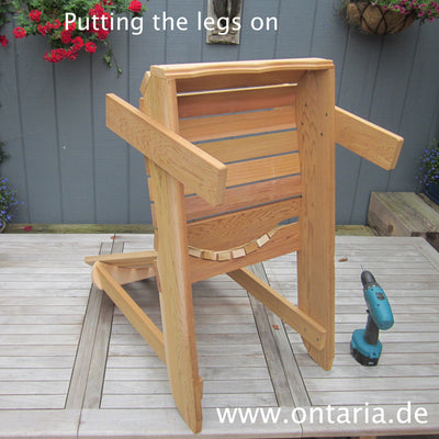 Fertigstellung des Adirondack Chair
